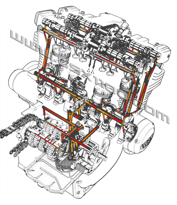 gsx1100 oil coolers rh theflyingbanana com Suzuki Engine Parts Diagram Suzuki Engine Identification